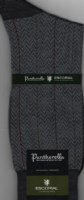 Pantherella Escorial Wool Blend Socks - Russell - Dark Grey Mix